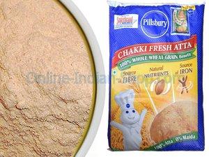 Chakki Fresh Atta, Indian Whole Wheat Flour, Pillsbury, 5Kg
