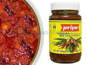 gongura pickle, red chilli pickle, priya