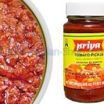 tomato pickle, thakkali thokku, hot, priya