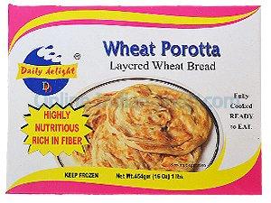 wheat parota, ready to eat, frozen, daily delight